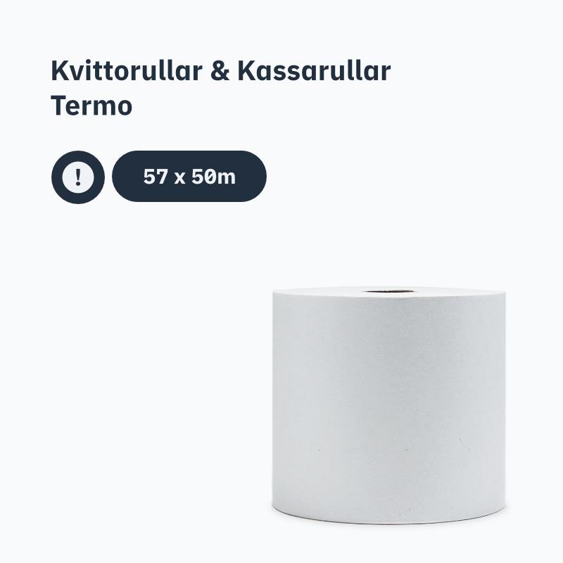 Kvittorullar & Kassarullar Termo 57x50