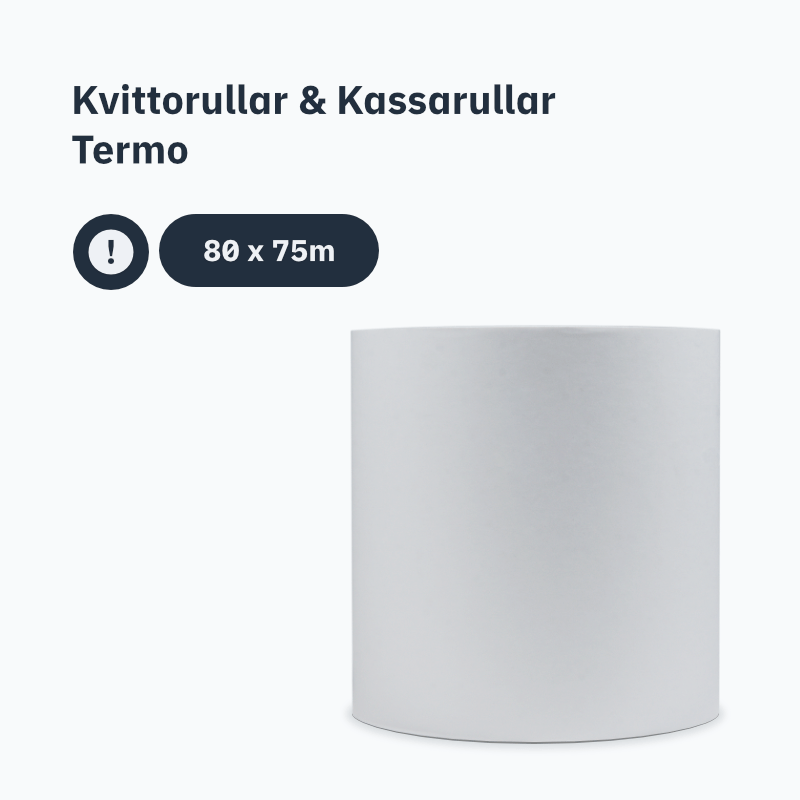 Kvittorullar & Kassarullar Termo 80x75