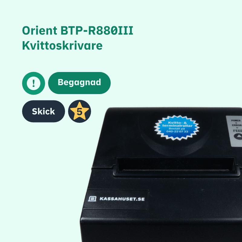 ORIENT BTP-R880III Begagnad kvittoskrivare