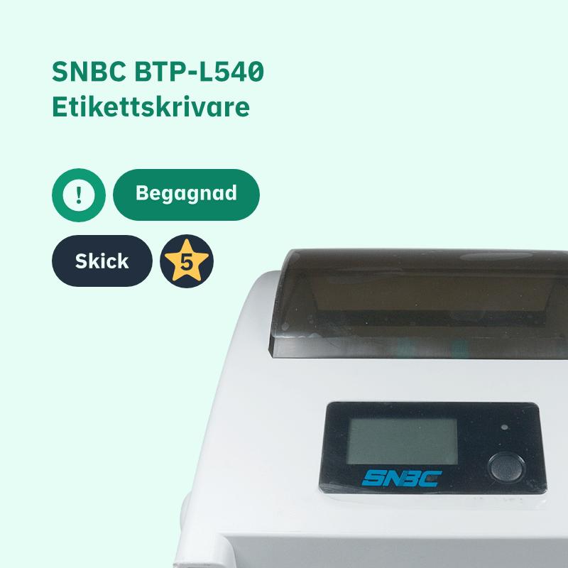 SNBC BTP-L540 Begagnad etikettskrivare