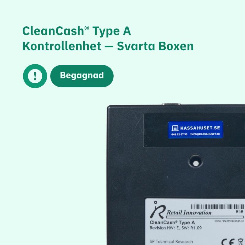 CleanCash® Type A Begagnad Kontrollenhet — Svarta Boxen
